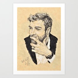 C. Hemsworth Portrait Art Print