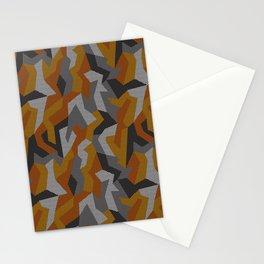 Modern Orange camouflage pattern. Vector illustration background  Stationery Cards