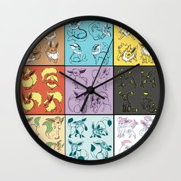 Eeveelutions Wall Clock