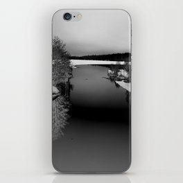 Then There is Cold... in Black and White iPhone Skin