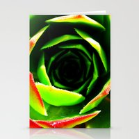 succulent Stationery Cards featuring Succulent by Derek Fleener
