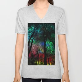 blissful forest Unisex V-Neck