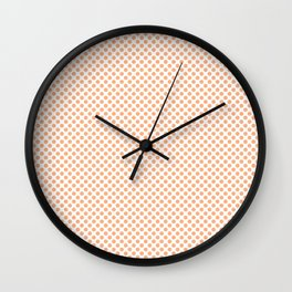 Peach Cobbler Polka Dots Wall Clock