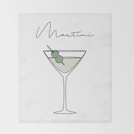 Martini Throw Blanket
