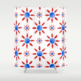 Watercolor ethnical ornament Shower Curtain