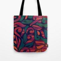 vintage floral Tote Bags featuring VINTAGE FLORAL by Julia Tomova