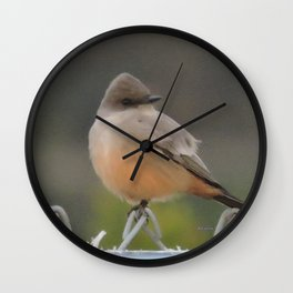 Say's Phoebe at Dusk Wall Clock