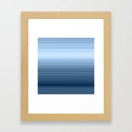 gradient , smoky, gray, blue , stripes Framed Art Print