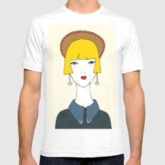 Dolores White Mens Fitted Tee MEDIUM