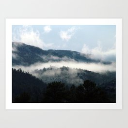 Foggy Mountain Morning Art Print