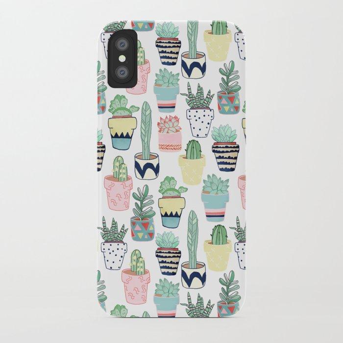 3ec2bf9e14 Cute Cacti in Pots iPhone Case by tangerinetane | Society6