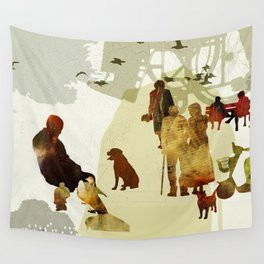 Elderly in the park Wall Tapestry