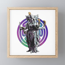 Hecate - Stained Glass Framed Mini Art Print