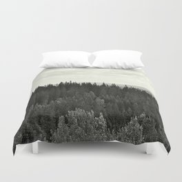 Forest BW Duvet Cover
