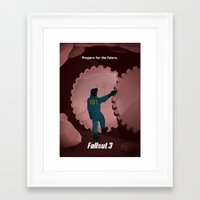 fallout 3 Framed Art Prints featuring Fallout 3 by Will Crase