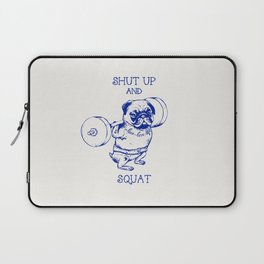 Pug Squat Laptop Sleeve