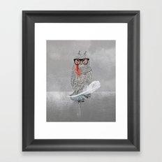 Owl a part of your dream! Framed Art Print