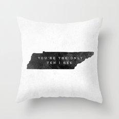 Ten I See Throw Pillow