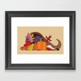 Fall Autumn Cornucopia Framed Art Print