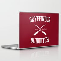 quidditch Laptop & iPad Skins featuring Hogwarts Quidditch Team: Gryffindor by IA Apparel
