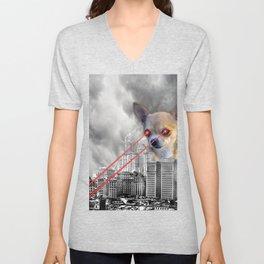 Chihuahuazilla Unisex V-Neck