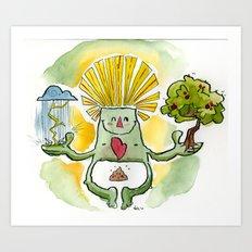 Happy Go Lucky Art Print