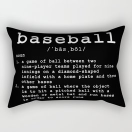 Baseball Definition Rectangular Pillow