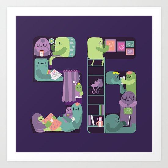 S6 tee Home is where S6 is Art Print