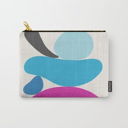 Turquoise & Hot Pink Scoop \\ Abstract Carry-All Pouch