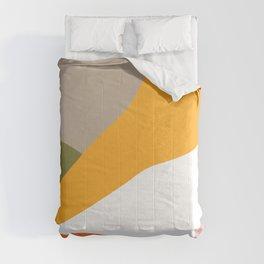 Minimal Landscape Collage 3.1 Orange & Green  Comforters