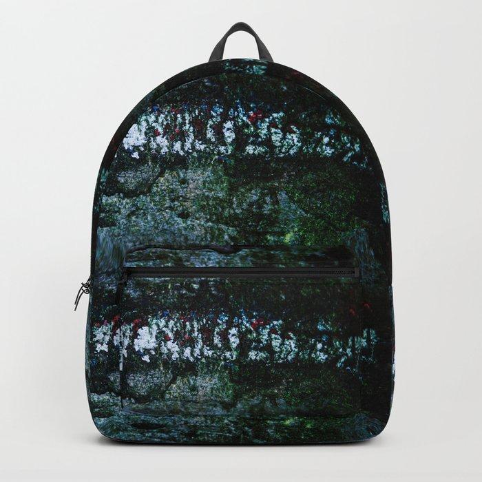 Stripes on wood Backpack