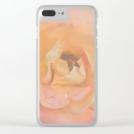 Peachy Pinky Ethereal Rose Clear iPhone Case