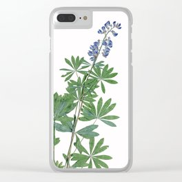 Lupine Bluebonnet Wildflower Botanical Floral Print Clear iPhone Case