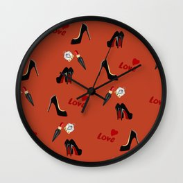 Love Shoes Wall Clock