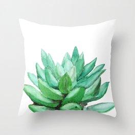 succulent echeveria Throw Pillow