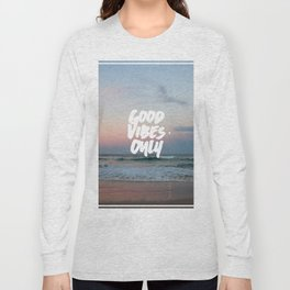 Good Vibes Only Beach and Sunset Long Sleeve T-shirt
