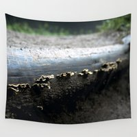 mushrooms Wall Tapestries featuring mushrooms by nast