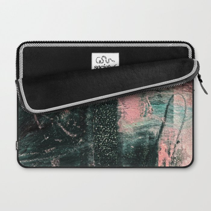 Standing // acrylic painting, pink & green Laptop Sleeve