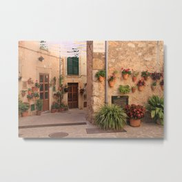 Flower streets of Valdemossa Metal Print