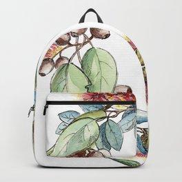 Floral Christmas Wreath, Illustration Backpack