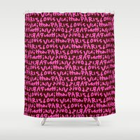 lv Shower Curtains featuring LV by anhnt32