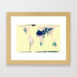 World Map : Gall Peters Pastel Framed Art Print