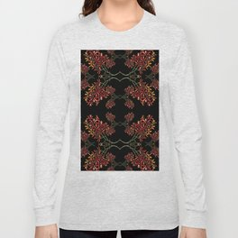 Orchids on Black Long Sleeve T-shirt