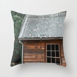 Rugged Shack Throw Pillow