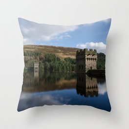 Derwent dam upper level Throw Pillow