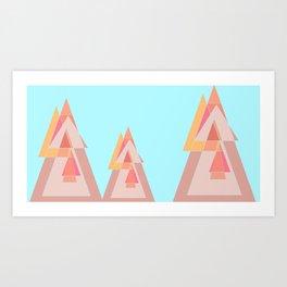 Landscape of geometric shapes Art Print