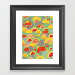 bright watermelons Framed Art Print