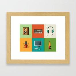 In Tha Studio Framed Art Print