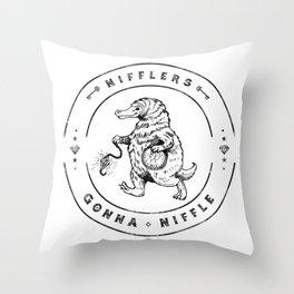 Nifflers Gonna Niffle Throw Pillow