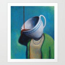 Constant Dribble (tea cup) Art Print